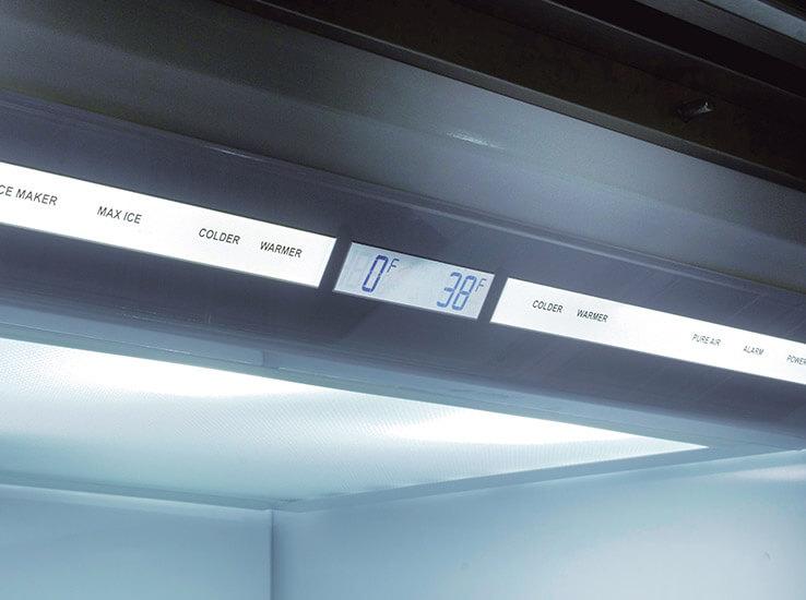 Sub-Zero recommended temperature settings